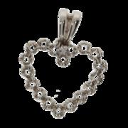 Heart-shaped pendant 750/- white gold