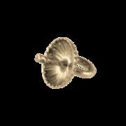 Hængeøsken med rillet skål 925/- forgyldt, 5 mm