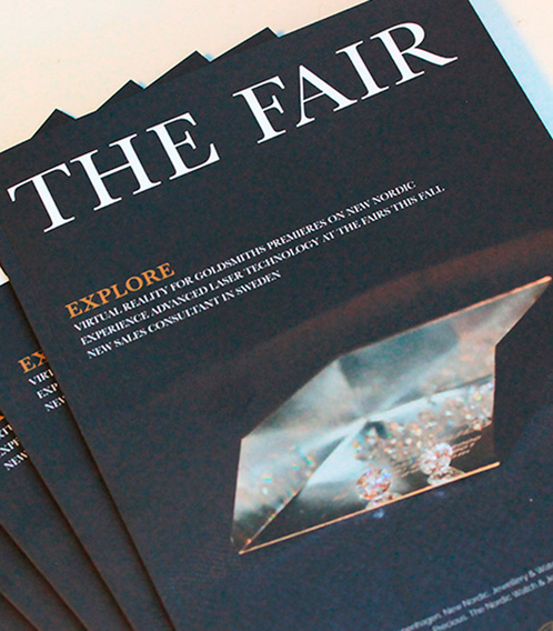 Read The Fair, a magazine dedicated to every goldsmith, silversmith and watchmaker. The magazine is written and produced by Aktiv Guld.