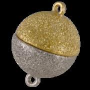 Magnet-kuglelås 925/- tofarvet, 12 mm