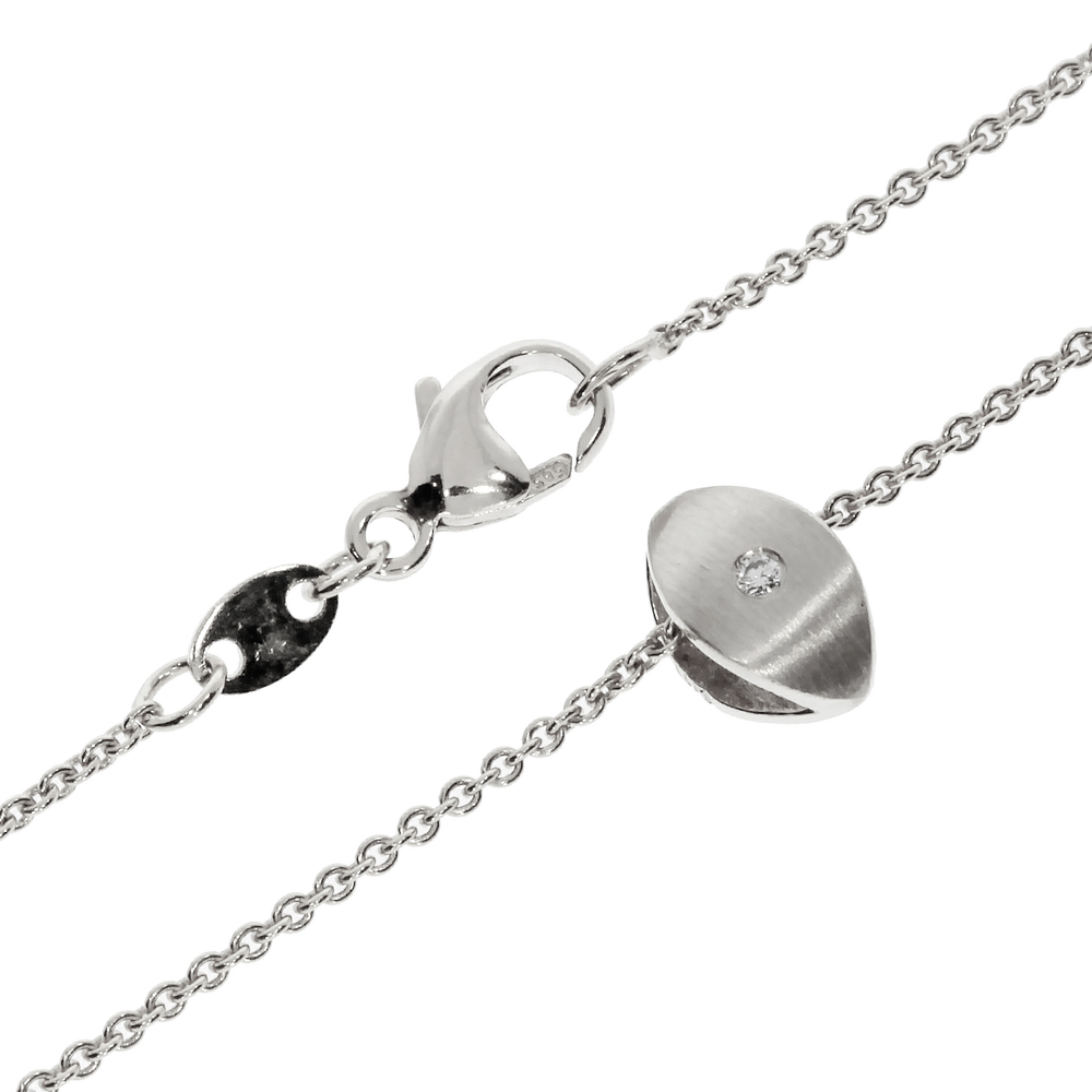 Necklace trace with pendant 585/- white gold