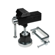 Bench vise with clamp