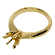 Ring with 6 prongs 750/- yellow gold
