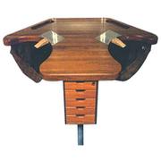 Eksklusivt mahogni guldsmedebord