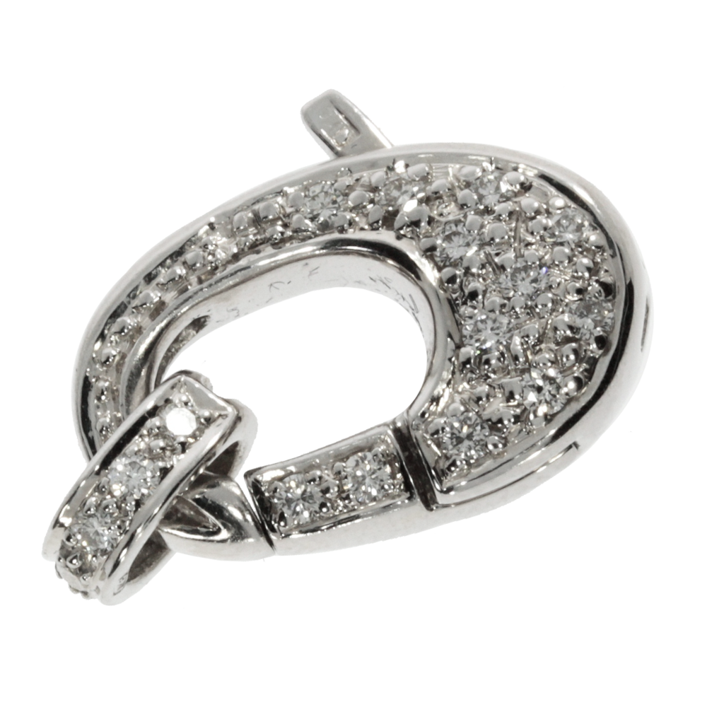 Clasp 585/- white gold decorated with 0.40 ct.