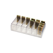Storage box for cutters, clear plastic
