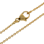 Necklace trace round with swivel 750/- yellow gold