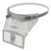 Headband magnifier in metal