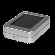 Sales box, grey plastic/black stuffing, large