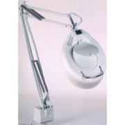 Magnifying lamp with ring light tubes